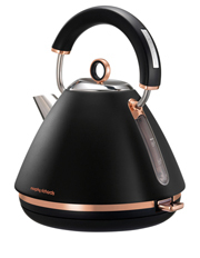 Morphy Richards - Accents Rose Gold Collection Kettle: Matte Black 102107