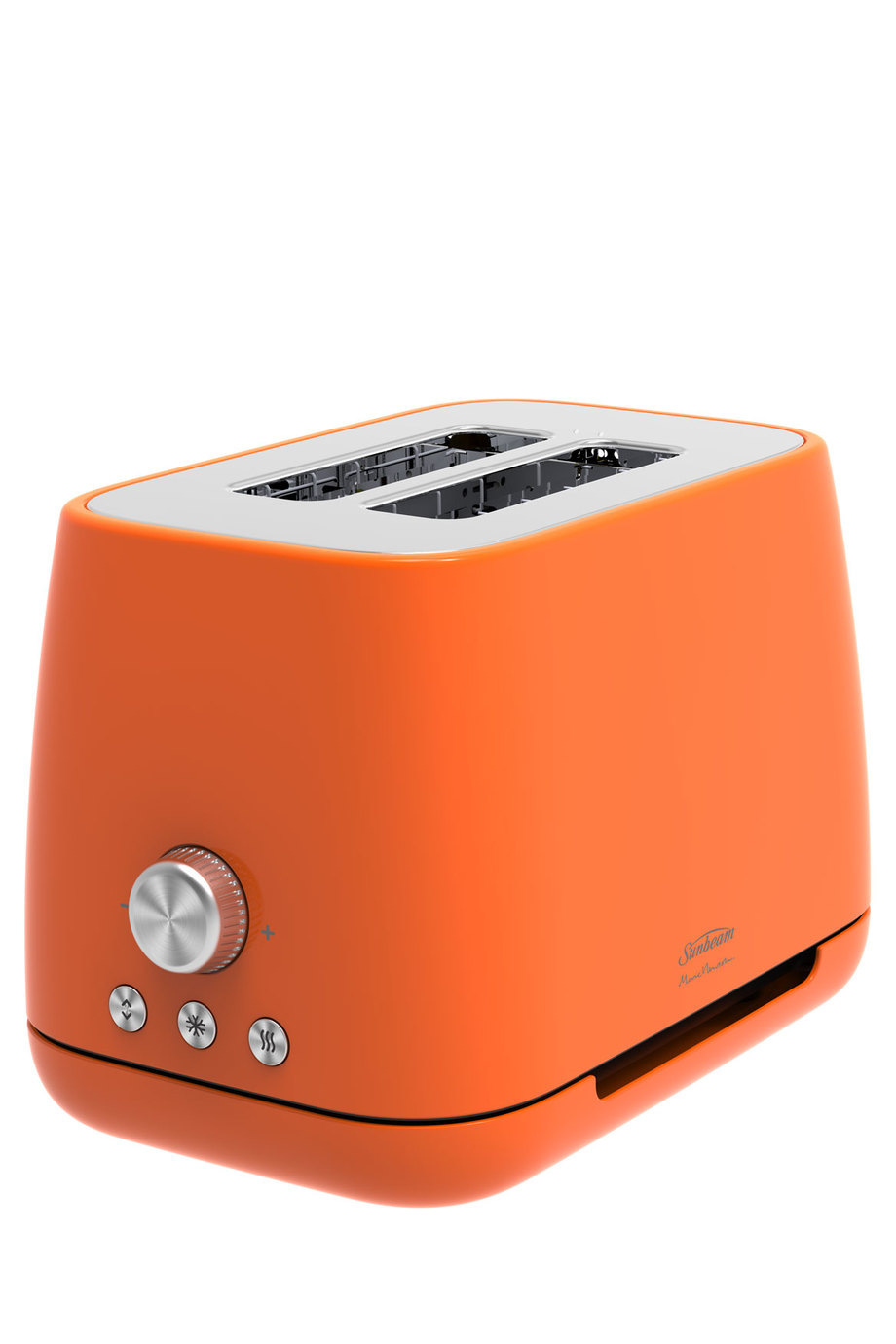 sunbeam ta8820o marc newson motorised 2 slice toaster orange myer online. Black Bedroom Furniture Sets. Home Design Ideas