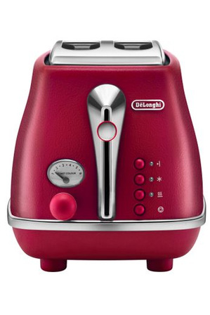 Delonghi - Icona Elements 2 Slice Toaster CTOE2003R - Flame Red