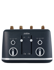 Sunbeam - Gallerie Collection 4 Slice Toaster : Midnight Black TA2640K