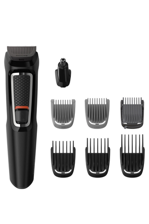 Philips - Multigroom Series 3000 8-in-1 Face & Hair Trimmer: Black MG3730/15