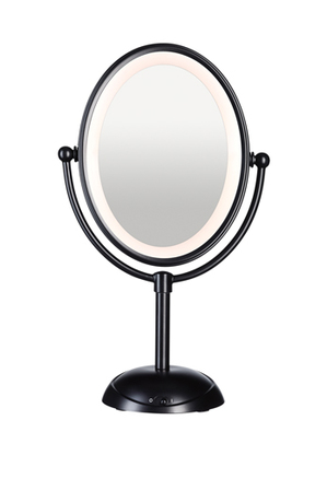 Conair - Reflections LED Lighted Mirror: Matte Black CBE51LMBA