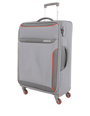 American Tourister - Dee-Lite Deluxe Soft Spinner Case Large, 82cm - Grey/Orange