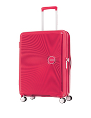 Curio Expandable Hardside Spinner Case Medium 70cm Pink 3.8kg
