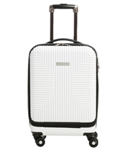 Business Cabin Carry on with Bonus 7 Piece Travel Accessory Pack - White