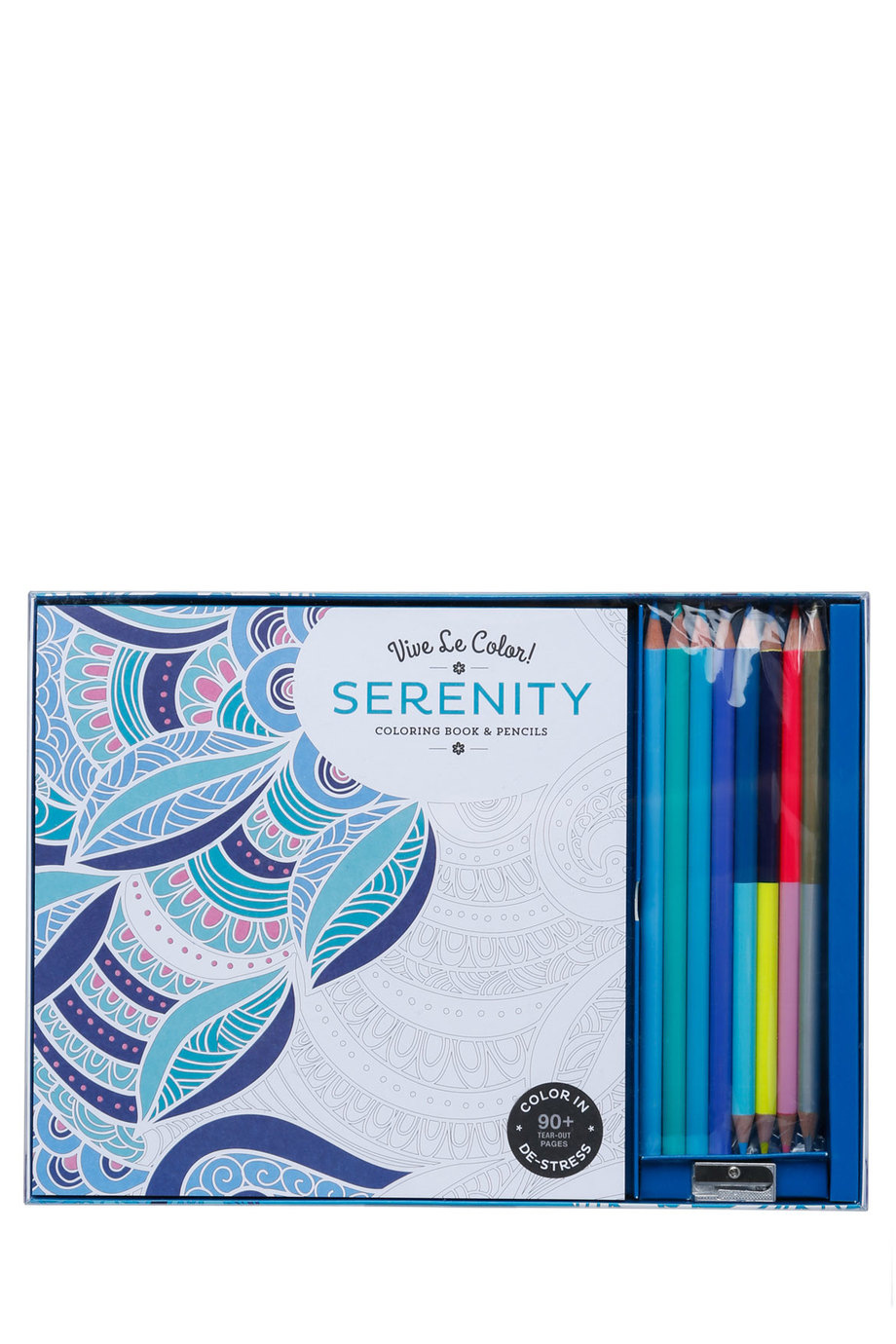 Coloring book yves saint laurent -  Vive Le Color Serenity Coloring Book And Pencils Set Myer Online