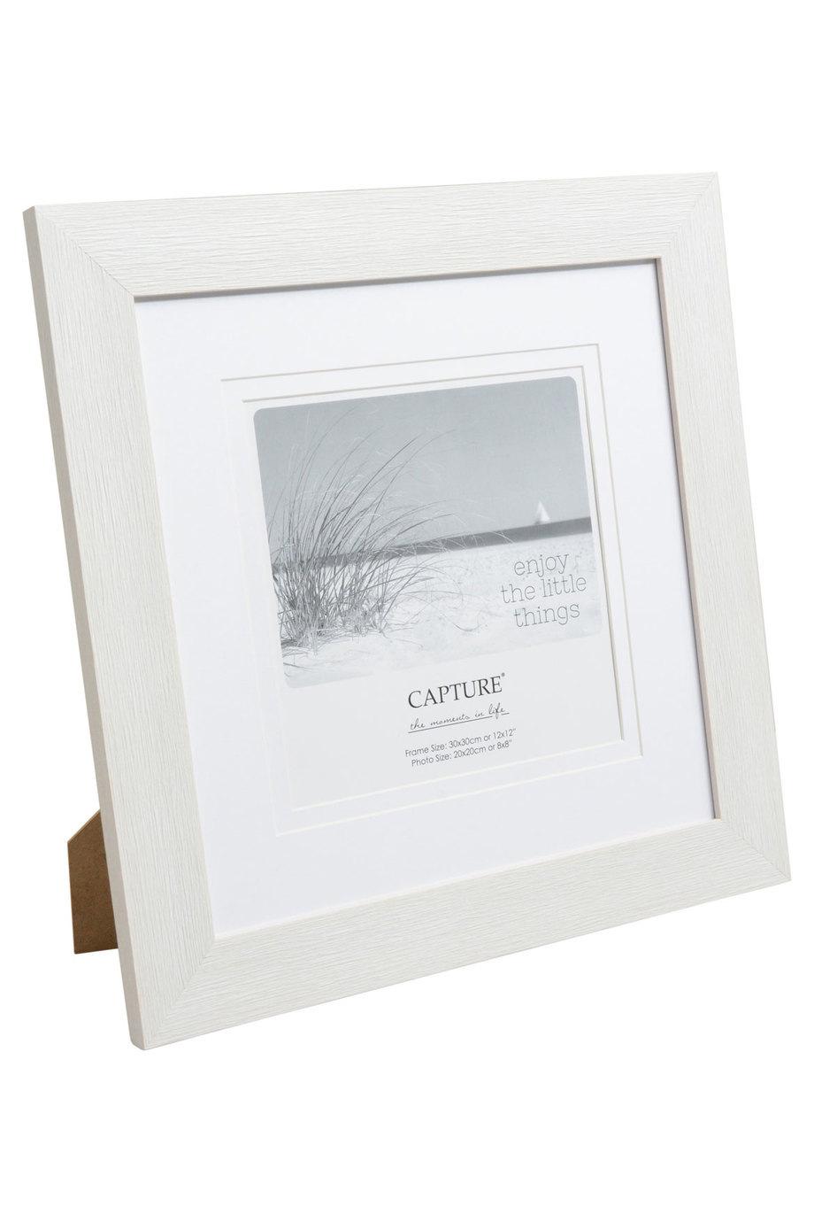 Capture | Caymen 20x20cm White Photo Frame | Myer Online