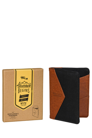 Gentlemen's Hardware - Travel Wallet - Charcoal