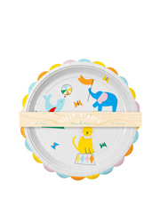 Silly Circus Plates Lg 12 Set