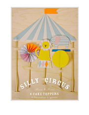 Silly Circus Cake Toppers 4 Set