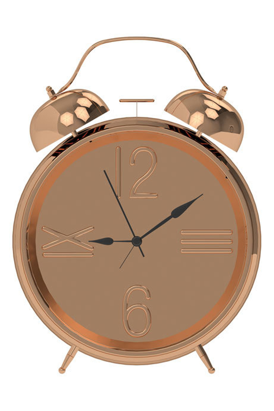 Salt Amp Pepper Zone 25cm Rose Gold Alarm Clock Myer Online