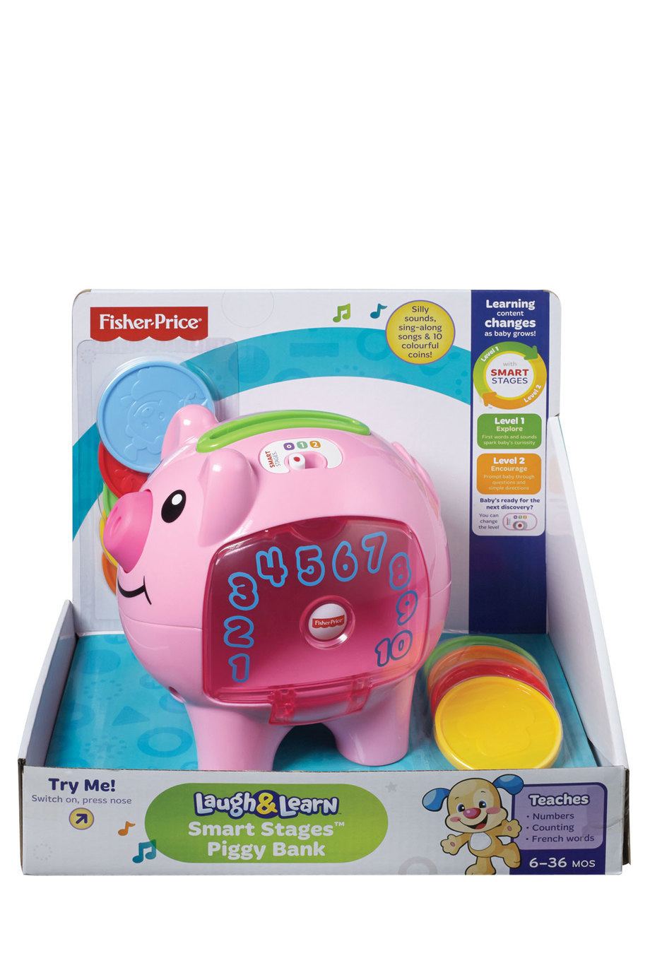 Fisher Price Smart Stages Piggy Bank Myer Online