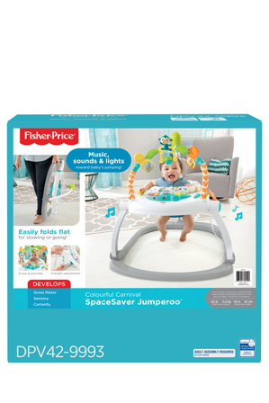 Fisher-Price - Colourful Carnival Space Saver Jumperoo