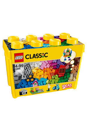 Build up a storm with this big box of classic LEGO bricks in 33 different  colors. With lots of different windows and doors, along with other special  pieces ...