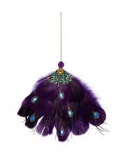 Holiday Opulence Feather Peacock Tail - Purple