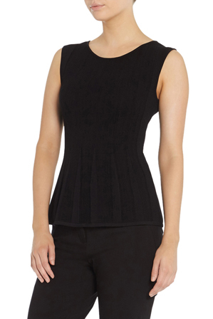 David Lawrence - Elise Stitch Detail Sleeveless Knit Top