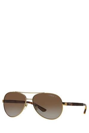 Vogue - 0VO3997S 391403 Gold Polarized Sunglasses