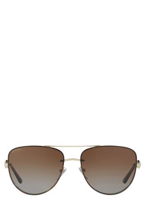 Bvlgari - 0BV6086B 400333 Gold Polarized Sunglasses