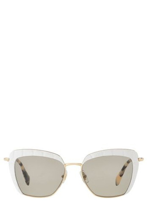 Miu Miu - MU 52QS  396592 CLEAR/WHITE