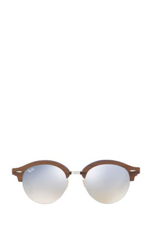 Ray-Ban - RB4246M CLUBROUND WOOD 404766 SILVER/GREY GUNMETAL