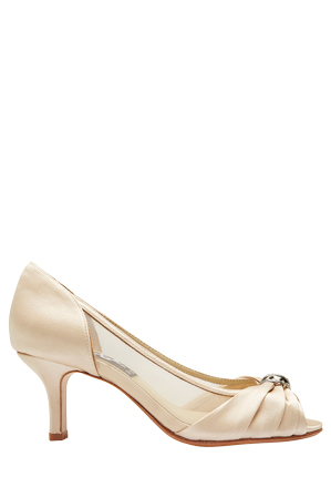 Alan Pinkus - Blanche Gold Silk Pump
