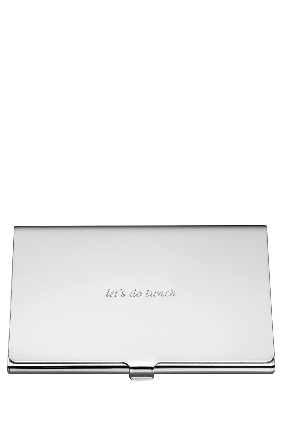 Kate Spade New York | Silver Street Business Card Holder | Myer Online
