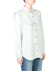 Skin and Threads - Frill Chambray Shirt