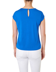 David Lawrence - Marina Twist Neck Silk Front Top