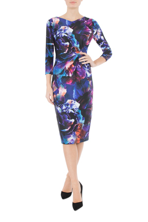 Anthea Crawford - Galaxy Floral Jersey Dress