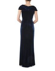 Anthea Crawford - Sapphire Velour Gown