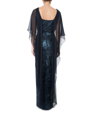 Anthea Crawford - Navy Sequined Lace Gown
