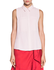 Drapey Crepe Sleeveless Shirt
