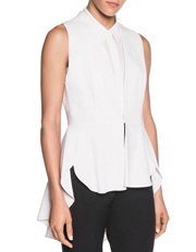 Shaped Frill Hem Sleeveless Jacket