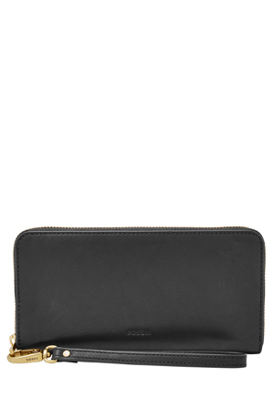 Fossil - SL7153001 Emma Zip Around Clutch Black