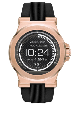 Michael Kors Wearables - MKT5010 Dylan Black and Rose Gold-Tone Display Watch