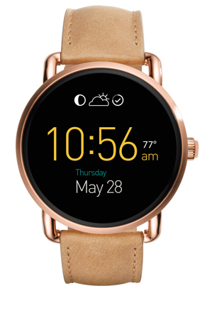 Fossil Wearables - FTW2102 Wander Touchscreen Light Brown Leather Smartwatch