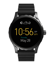 Fossil Wearables - FTW2107 Marshal Touchscreen Black Silicone Smartwatch