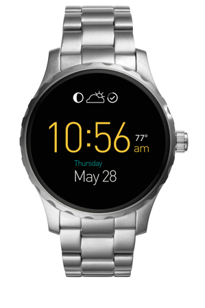 Fossil Wearables - FTW2109 Marshal Touchscreen Stainless Steel Smartwatch