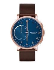 fashion watches buy men s fashion watches online myer skt1103 hagen connected leather hybrid smartwatch