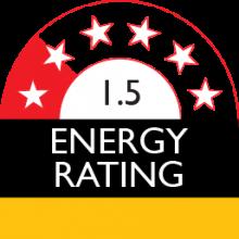 energy rating 1.5 stars