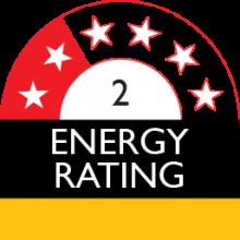 energy rating 2 stars 633 kilowatt hour