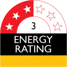 energy rating 3 stars 688 kilowatt hour
