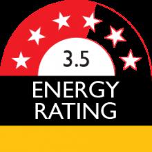 energy rating 3.5 stars 613 kilowatt hour