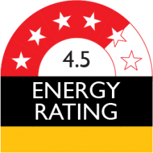 energy rating 4.5 stars 280 kilowatt hour