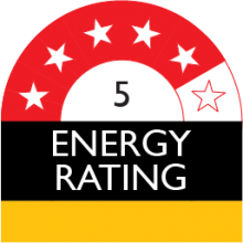 energy rating 5 stars 423 kilowatt hour