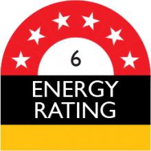 energy rating 6 stars 368 kilowatt hour